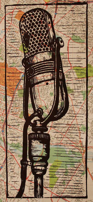 Rca Poster featuring the drawing Rca 77 On Austin Map by William Cauthern