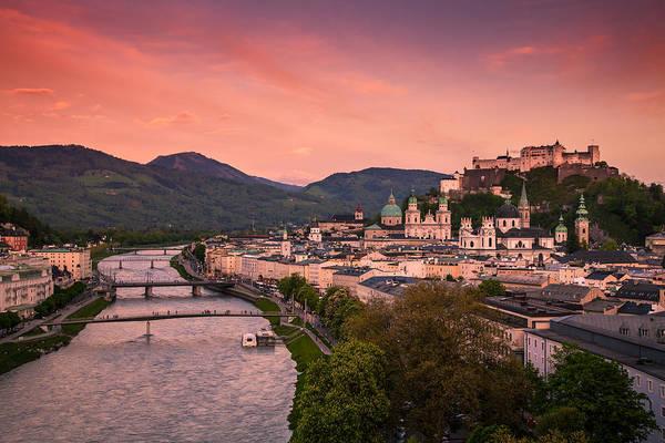 Salzburg Poster featuring the photograph Salzburg 02 by Tom Uhlenberg