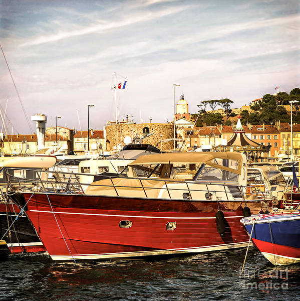 Yacht Poster featuring the photograph St.tropez Harbor by Elena Elisseeva