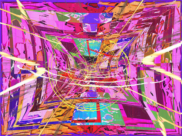 Abstract Poster featuring the digital art The Writing On The Wall 17 by Tim Allen