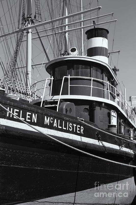 Clarence Holmes Poster featuring the photograph Tugboat Helen Mcallister II by Clarence Holmes