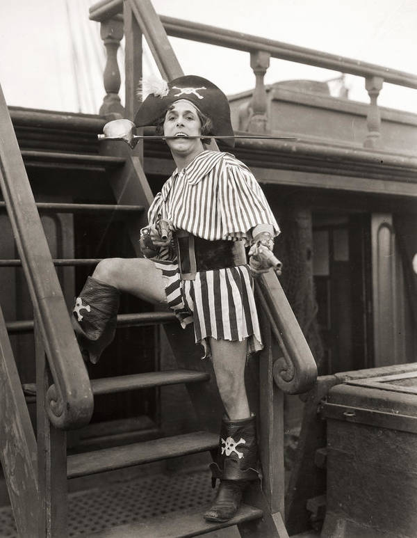 -nec08- Poster featuring the photograph Silent Film Still: Pirates by Granger