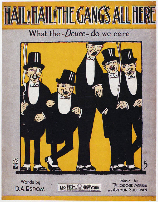 1917 Poster featuring the photograph Sheet Music Cover, 1917 by Granger