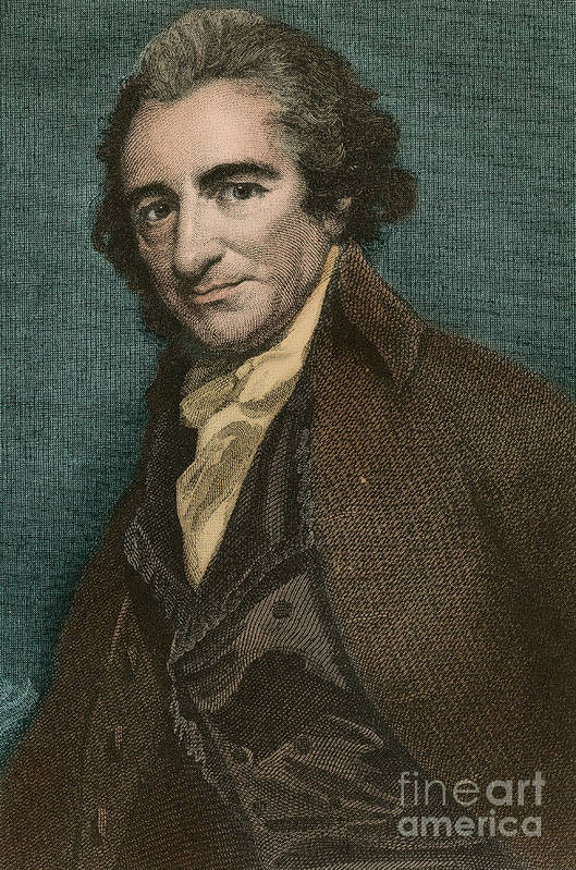 America Poster featuring the photograph Thomas Paine, American Patriot by Photo Researchers