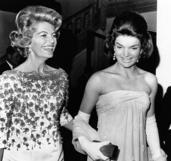 History Poster featuring the photograph Jacqueline Kennedy With The Wife by Everett