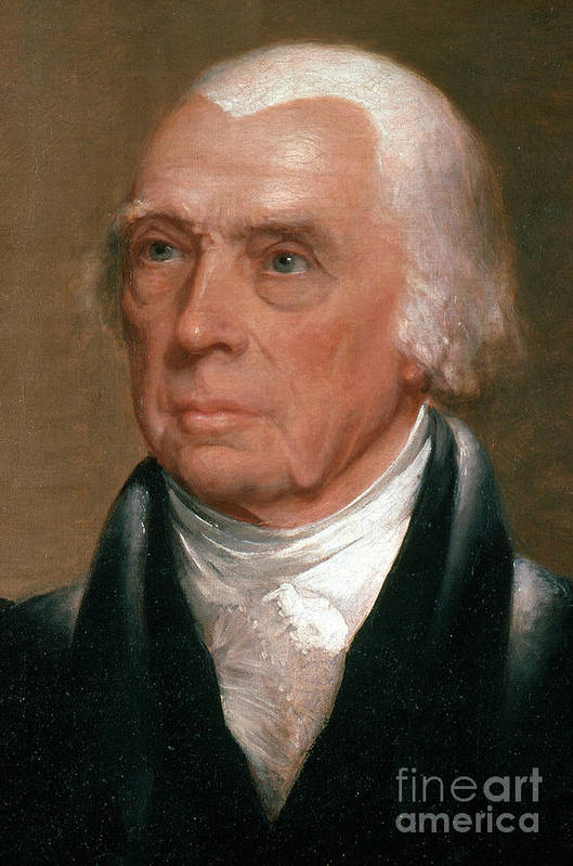 History Poster featuring the photograph James Madison, 4th American President by Photo Researchers