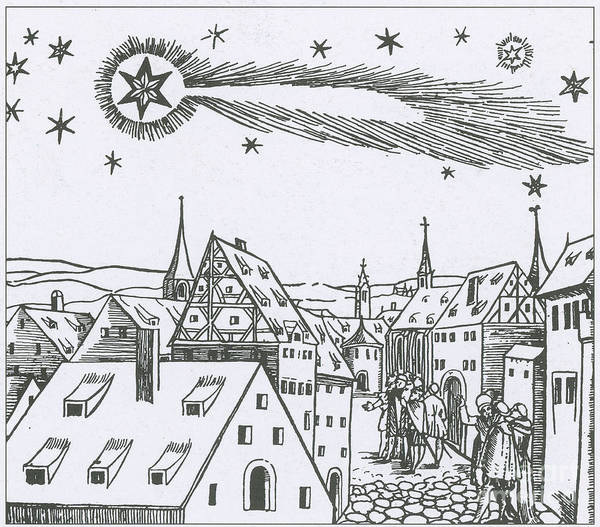 Illustration Poster featuring the photograph The Great Comet Of 1556 by Science Source