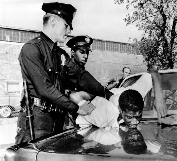 History Poster featuring the photograph Violence In Los Angeles Street. Police by Everett