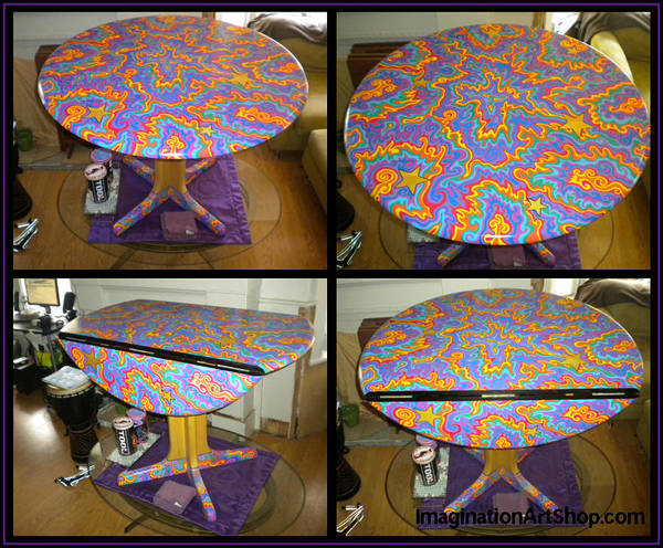 Sharpie Poster featuring the painting Sharpie Star Table by Mandy Shupp