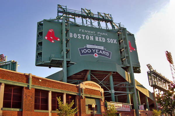 Fenway Park Poster featuring the photograph 100 Years At Fenway by Joann Vitali