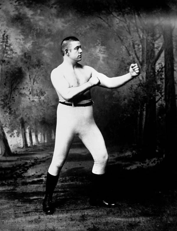 1885 Poster featuring the photograph John L. Sullivan (1858-1918) by Granger