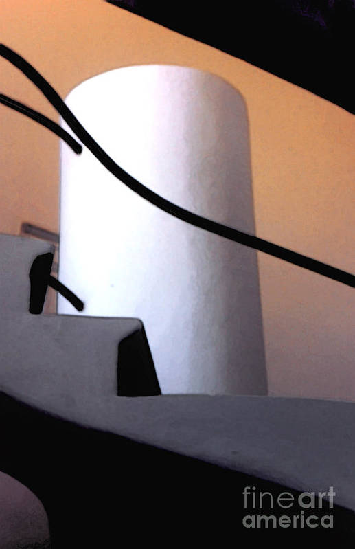Abstract Poster featuring the photograph A Gaudi Staircase by Linda Parker