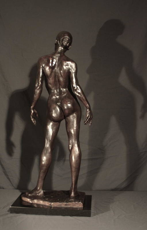 Bronze Sculpture Poster featuring the sculpture Amazing Grace Back View by Dan Earle