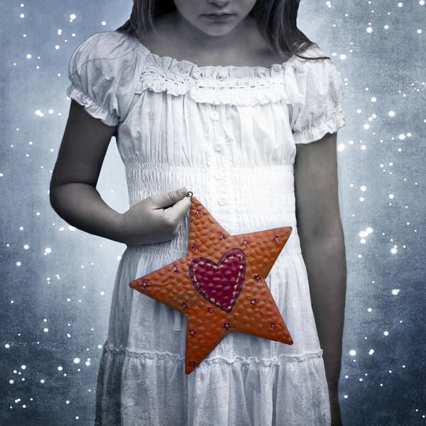 Girl Poster featuring the photograph Angel With A Star by Joana Kruse
