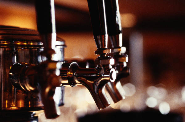 Horizontal Poster featuring the photograph Beer Taps by Ryan McVay
