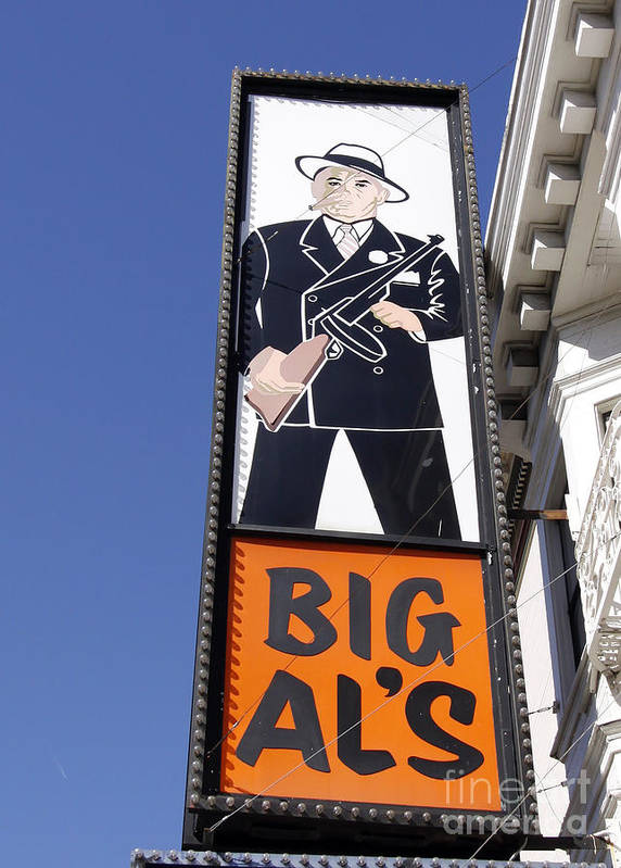 Sign Poster featuring the photograph Big Al by Denise Pohl