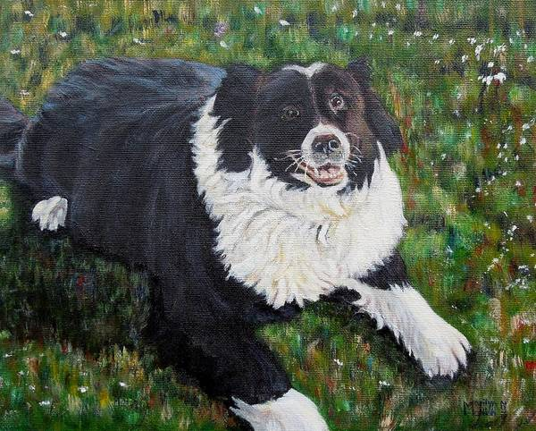 Dog Poster featuring the painting Blackie by Marilyn McNish