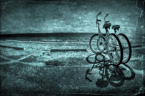 Bicycle Poster featuring the photograph Bluescape by Evelina Kremsdorf