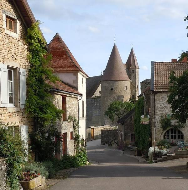 Europe Poster featuring the photograph Chateauneuf En Auxois Burgundy France by Marilyn Dunlap
