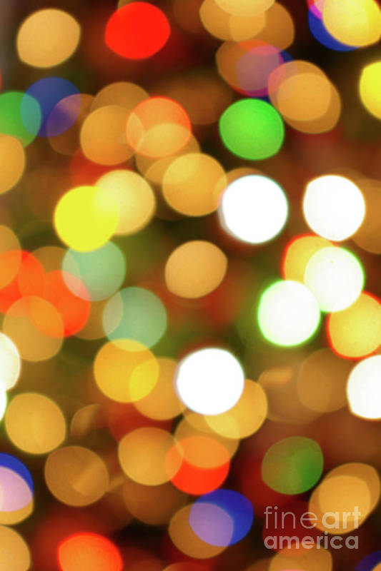 Abstract Poster featuring the photograph Christmas Lights by Carlos Caetano