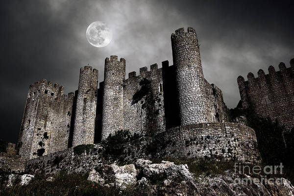 Ancient Poster featuring the photograph Dark Castle by Carlos Caetano