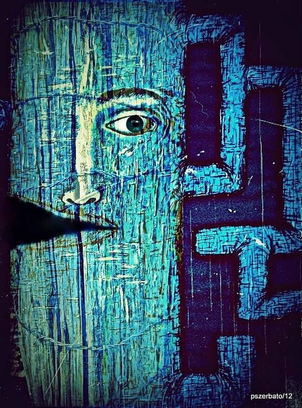 Cut Poster featuring the digital art Deep Cut by Paulo Zerbato