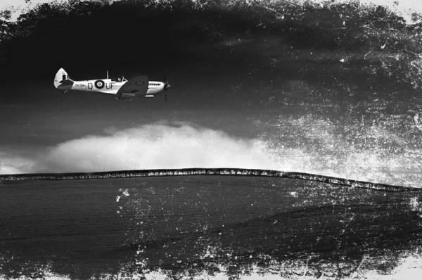 Spitfire Poster featuring the photograph Distressed Spitfire by Meirion Matthias