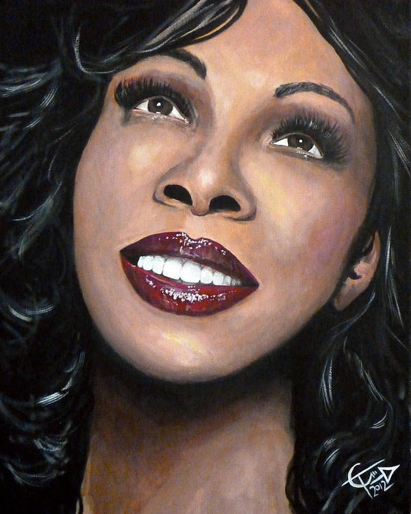 Disco Poster featuring the painting Donna Summer by Tom Carlton