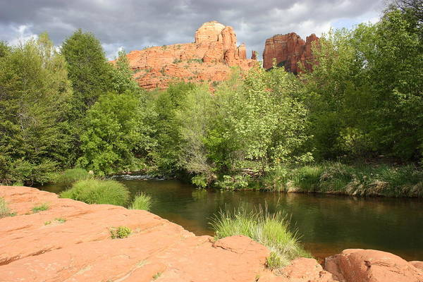 Cathedral Rock Poster featuring the photograph Feng Shui In Sedona by Carol Groenen