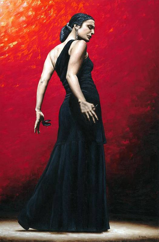 Dance Poster featuring the painting Flemenco Arrogancia by Richard Young