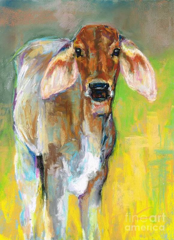Cattle Poster featuring the painting Im All Ears by Frances Marino