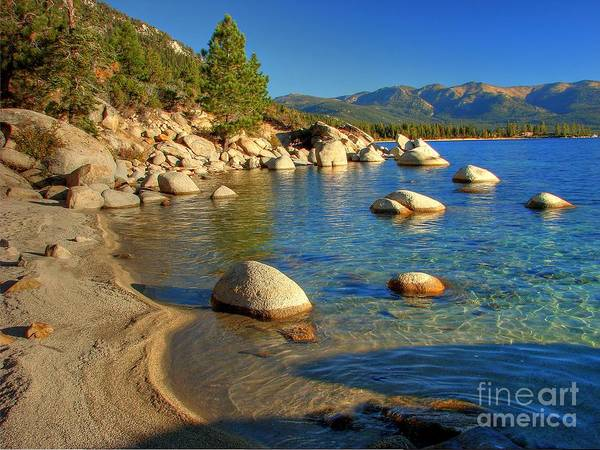 Lake Tahoe Poster featuring the photograph Lake Tahoe Tranquility by Scott McGuire