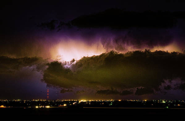 bo Insogna Poster featuring the photograph Lightning Thunderstorm Cloud Burst by James BO Insogna