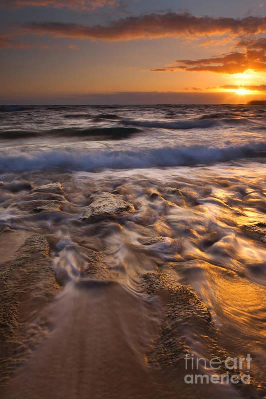 Lumaha'i Beach Poster featuring the photograph Lumaha'i Dawn by Mike Dawson