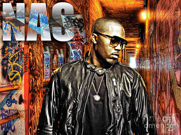 Nas Poster featuring the digital art Nasir Jones by The DigArtisT