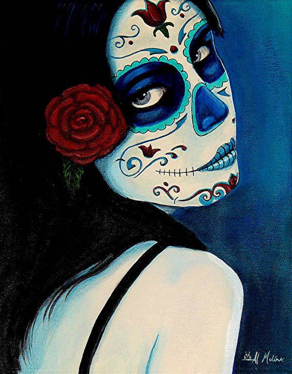 Fantasy Poster featuring the painting No Se Olvide De Mi by Al Molina