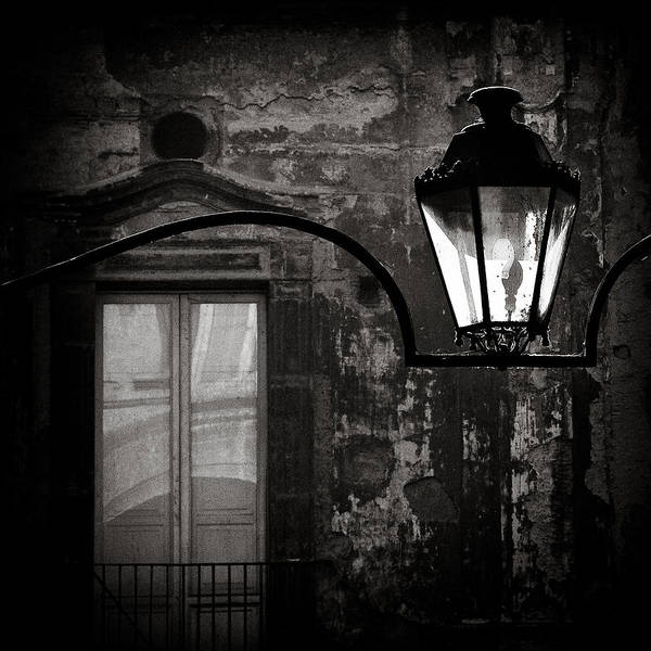 Naples Poster featuring the photograph Old Lamp by Dave Bowman