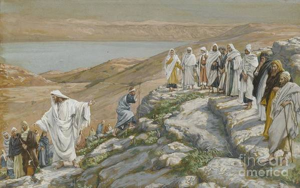 Tissot Poster featuring the painting Ordaining Of The Twelve Apostles by Tissot
