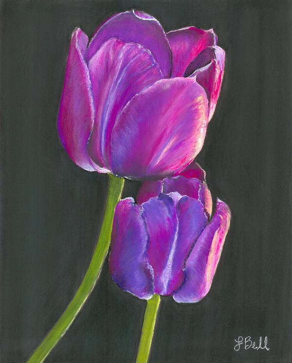 Tulip Poster featuring the painting Passion by Laura Bell