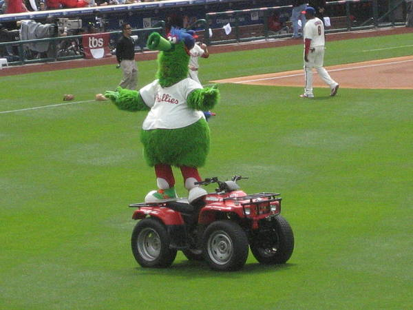 Phillis Poster featuring the photograph Phillie Phanatic by Jennifer Sweet