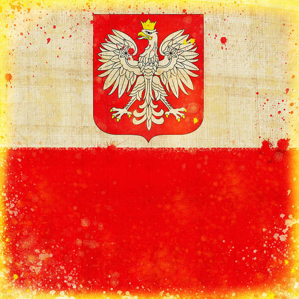 Duty Poster featuring the painting Poland Flag by Setsiri Silapasuwanchai