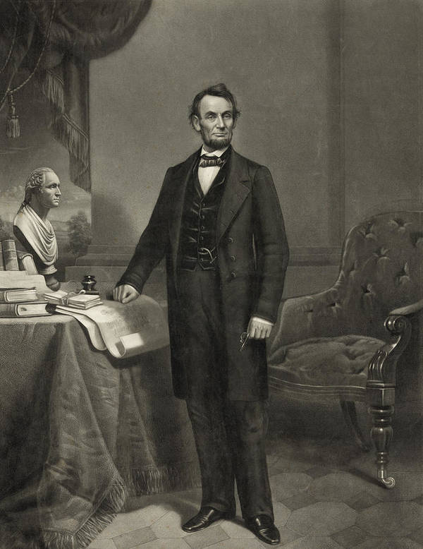 abraham Lincoln Poster featuring the photograph President Abraham Lincoln by International Images