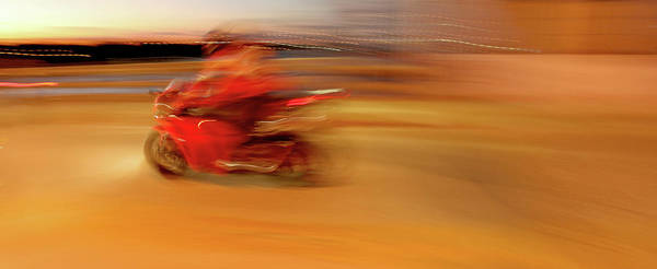 Superbike Poster featuring the painting Red Hot by Glennis Siverson