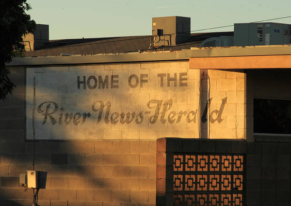Building Poster featuring the photograph River News-herald by Troy Montemayor