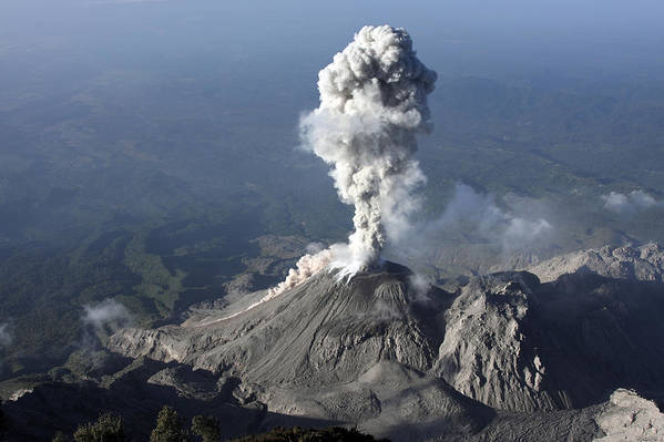 No People Poster featuring the photograph Santiaguito Ash Eruption, Guatemala by Martin Rietze