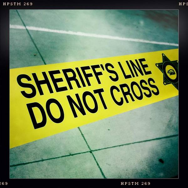 Sheriff's Line Poster featuring the photograph Sheriff's Line - Do Not Cross by Nina Prommer