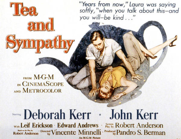 1950s Poster Art Poster featuring the photograph Tea And Sympathy, John Kerr, Deborah by Everett