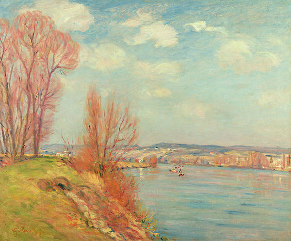 The Poster featuring the painting The Bay And The River by Jean Baptiste Armand Guillaumin