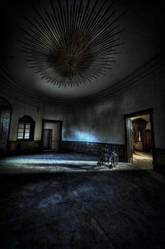 Abandon Poster featuring the photograph The Oval Star Room by Nathan Wright