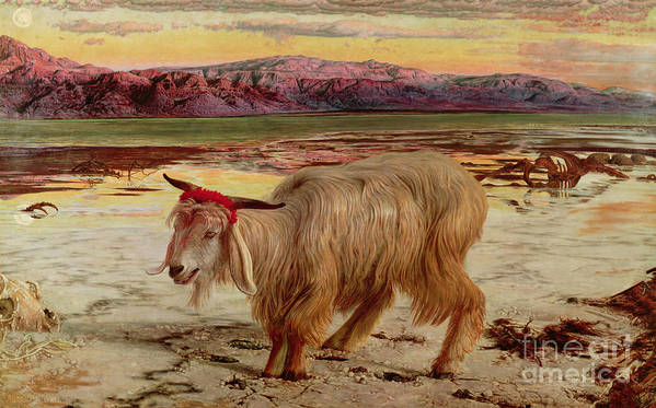 The Scapegoat Poster featuring the painting The Scapegoat by William Holman Hunt